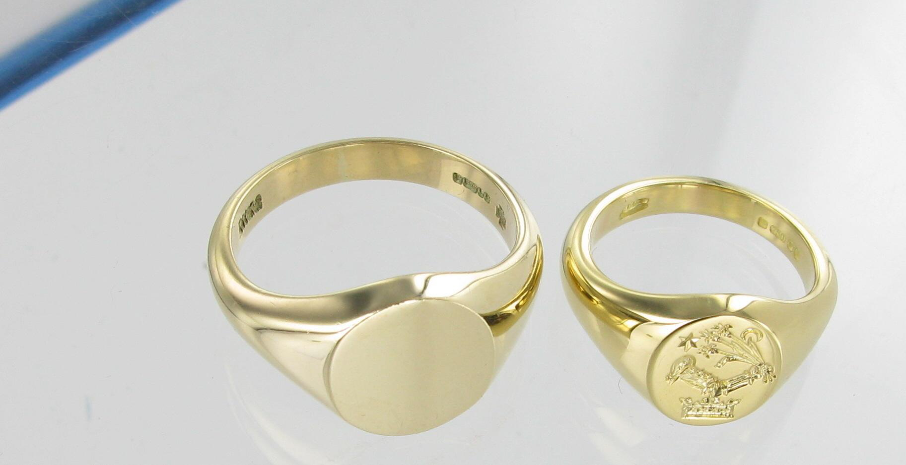 gold yellow ring ct rose or carat signet choose white