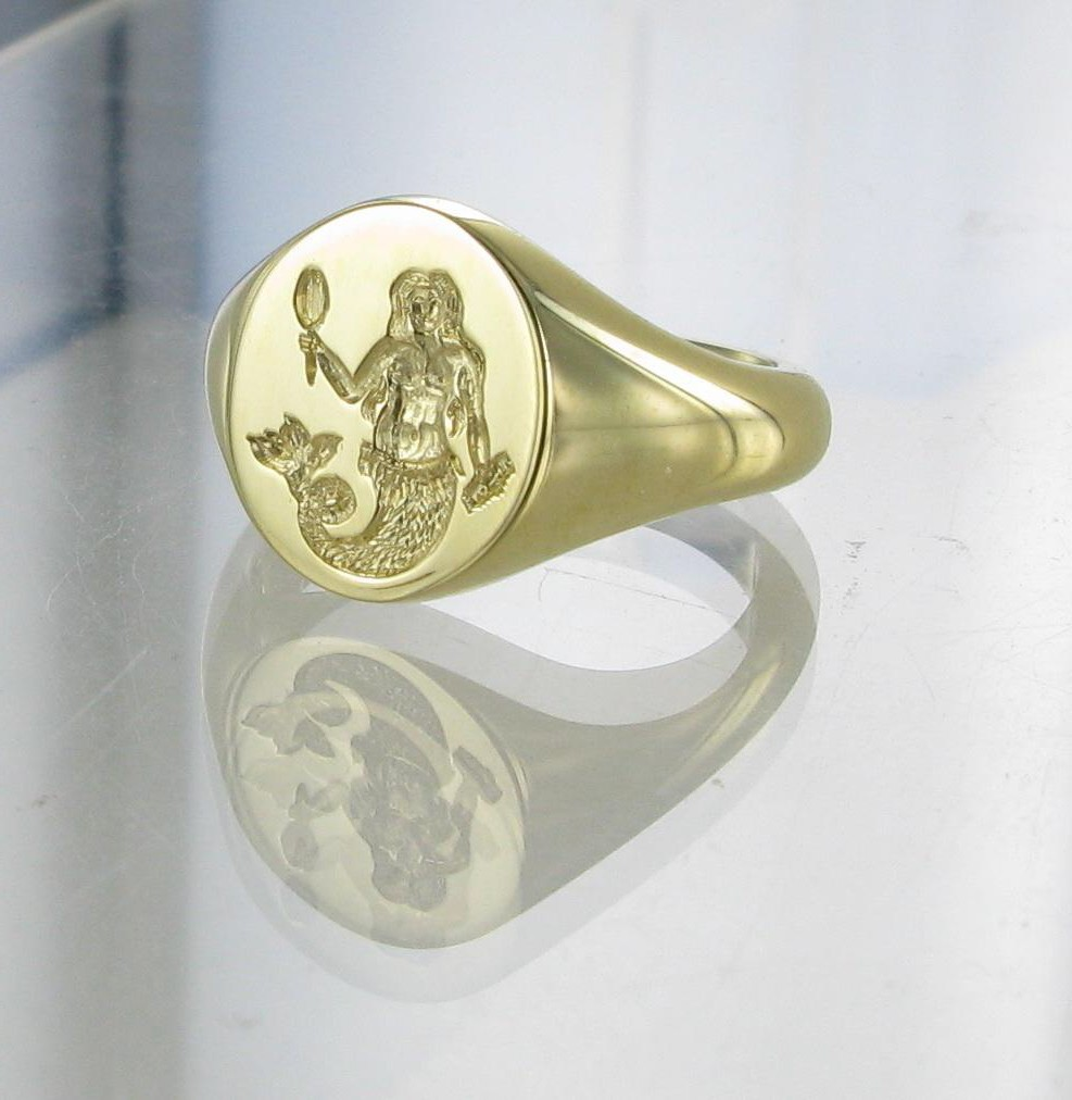 Signets and Cyphers seal engraved signet ring